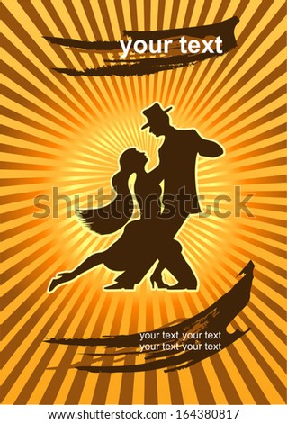 The dancers of Argentine Tango  - stock vector