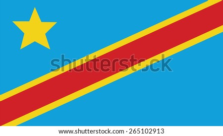 the democratic republic of the congo Flag for Independence Day and infographic Vector illustration. - stock vector
