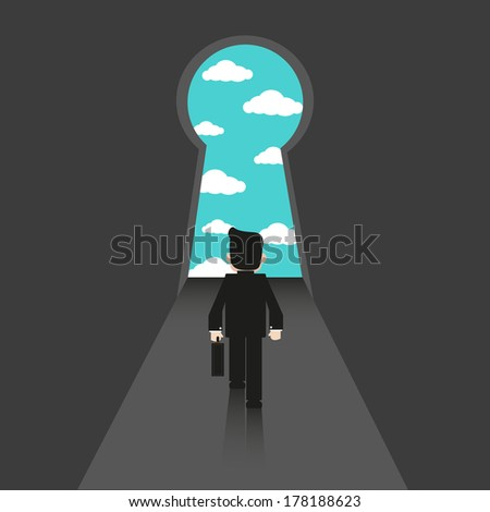 The door of Successful - Vector  - stock vector
