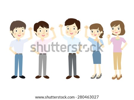 """The dress code of summer that is called """"Cool Biz"""" in Japan - stock vector"""