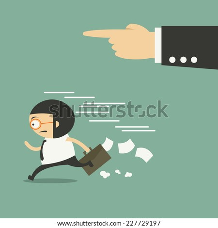 The employee and the employer - stock vector