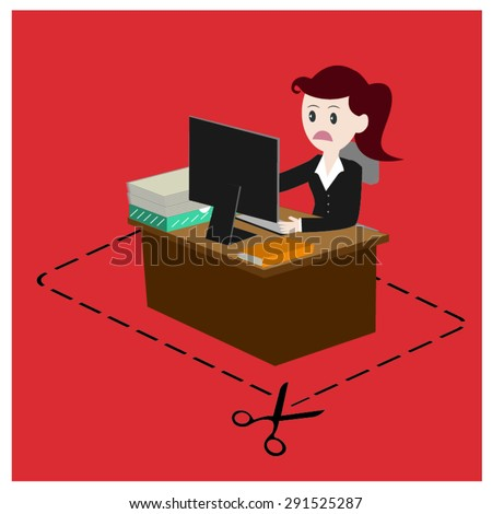 The employee and the employer dismiss. - stock vector