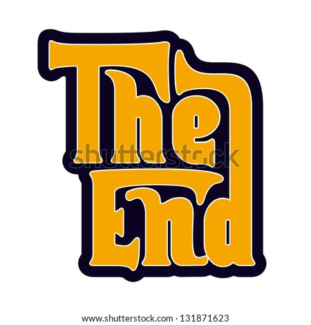 The End - stock vector