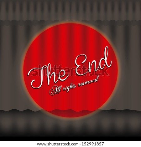 the end label over black background vector illustration - stock vector