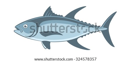 the figure shows a tuna fish - stock vector