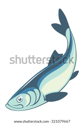 the figure shows the herring fish - stock vector