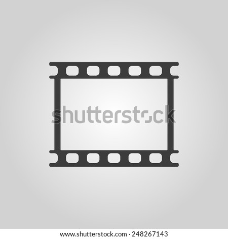 The film icon. Film symbol. Flat Vector illustration - stock vector
