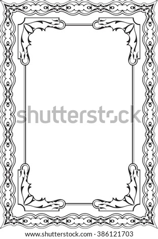 The fine vintage greeting page is on white - stock vector