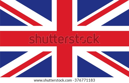 The flag of the United Kingdom of Great Britain and Northern Ireland - stock vector