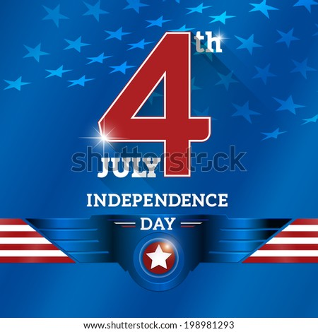 The fourth of July, American Independence Day background vector - stock vector