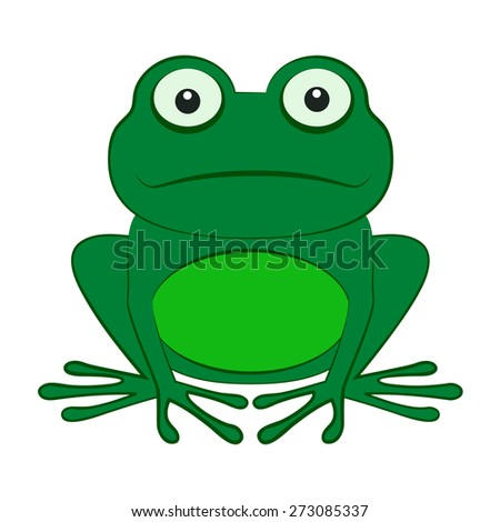 the frog isolated on a white background - stock vector