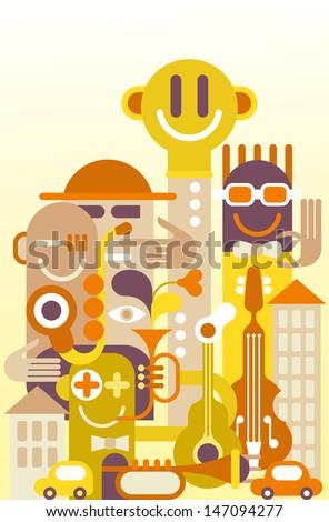 The Fun City - vector illustration.  - stock vector