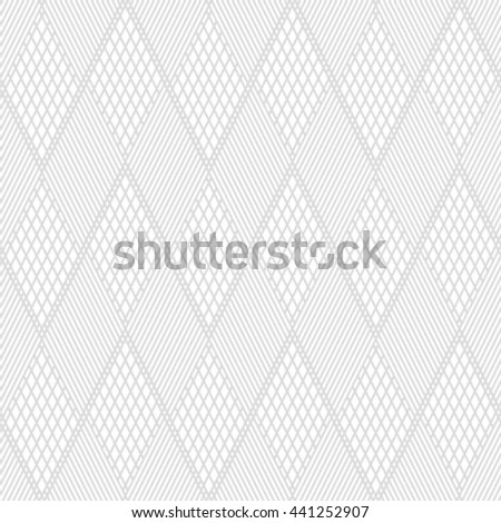 The geometric pattern by stripes, lines, rhombuses. Seamless vector background. Gray and white texture - stock vector