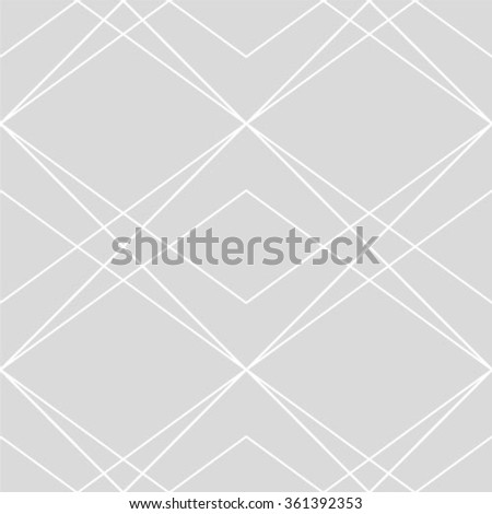 The geometric pattern by stripes, lines, rhombuses. Seamless vector background. Grey and white texture - stock vector
