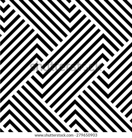 The geometric pattern by stripes . Seamless vector background. Black texture. - stock vector