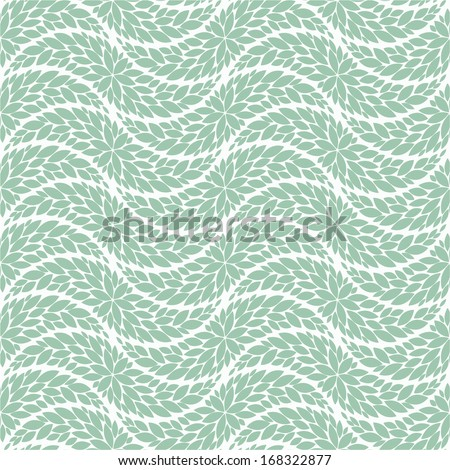 The geometric pattern of leaves. Seamless vector background. - stock vector
