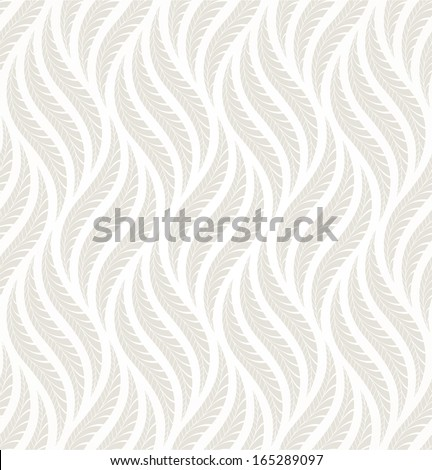 The geometric pattern of leaves. Seamless vector background. Gray and white texture. - stock vector
