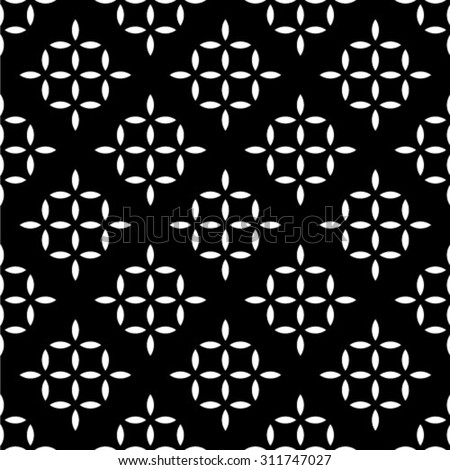 The geometric pattern. Seamless vector background. Black and white texture - stock vector