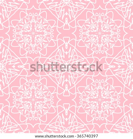 The geometric pattern with lines,Tints of Pink Seamless pattern, Abstract Seamless pattern, Vector Seamless pattern, Repeating geometric, Seamless floral pattern - stock vector
