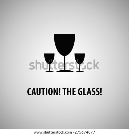 The glass! Flat icon, vector illustration - stock vector