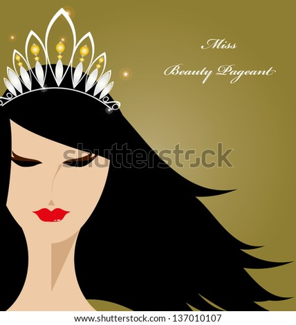 Beauty pageant logo vector - photo#22