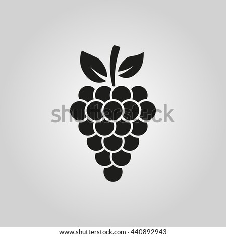 The grapes icon. symbol. UI. Web. Logo. Sign. Flat design. App. Stock vector - stock vector