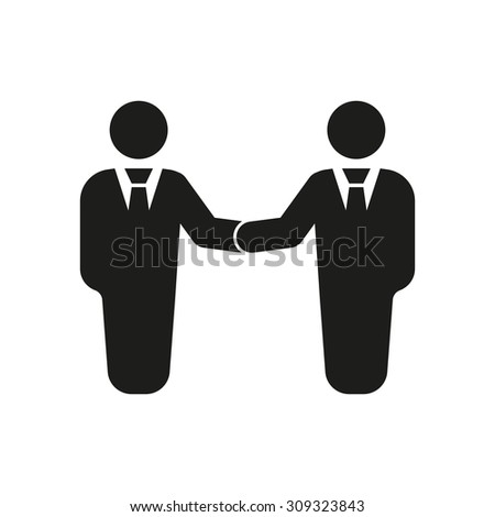 The handshake icon. Partnership and negotiation, cooperation symbol. Flat Vector illustration - stock vector