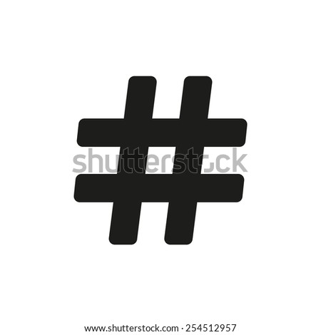 The hash icon. Hashtag symbol. Flat Vector illustration - stock vector