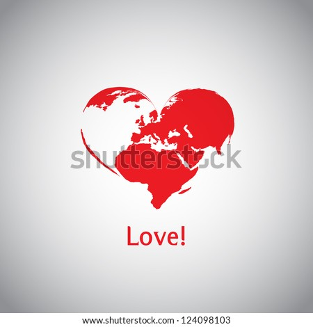 The Heart World - Love! - stock vector