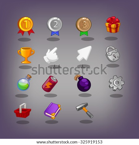 The icon for the game interface - stock vector