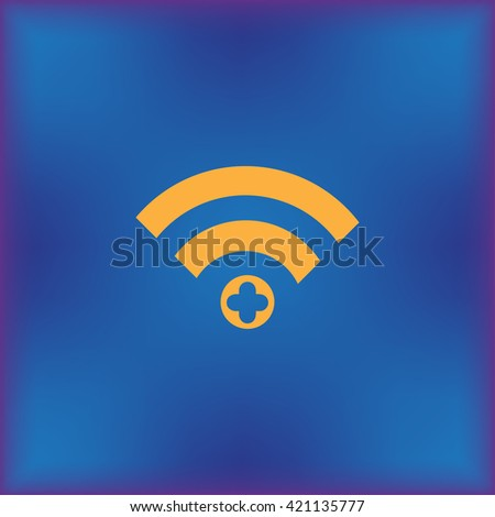 The icon of rss. Flat design style - stock vector