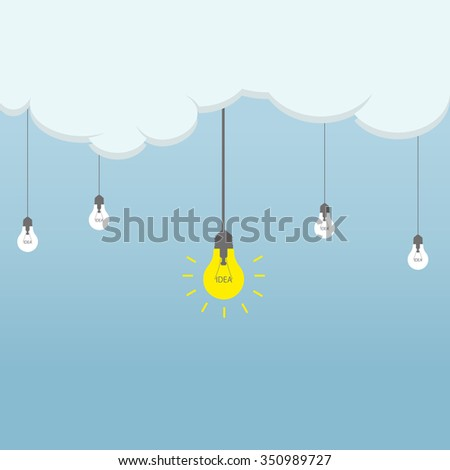 the idea of the cloud. business project. - stock vector