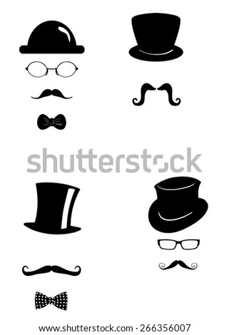 the illustration dedicated to the  silhouette of a man. - stock vector
