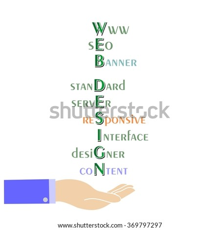 the illustration dedicated to web design and internet. - stock vector