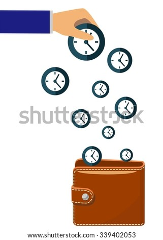 the illustration on a theme - time is money. - stock vector