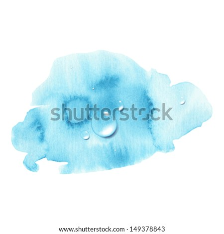 The image of watercolor splash and drops can used as design element - stock vector