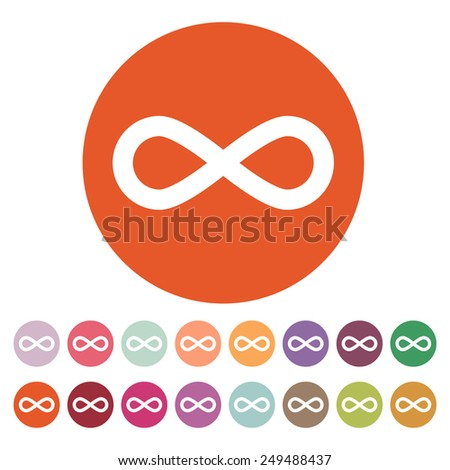 The infinity icon. Infinity symbol. Flat Vector illustration. Button Set - stock vector