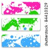 The ink splash banner set - stock vector
