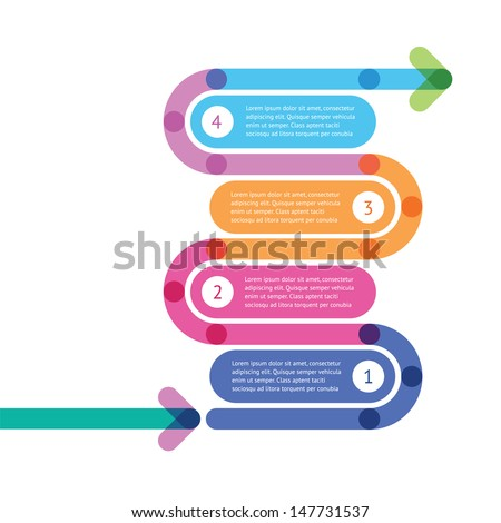 the instruction how to make something - stock vector