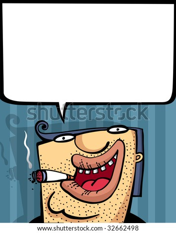 The interesting man's person similar to the gangster an illustration - stock vector