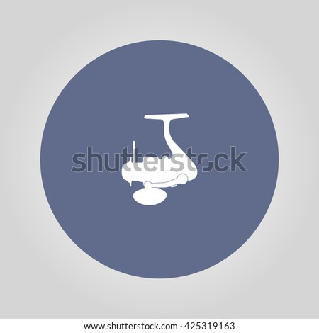 The isolated silhouettes of fishing reels spinning. - stock vector