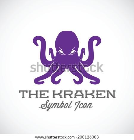 The Kraken Vector Symbol Icon or Logo Template - stock vector