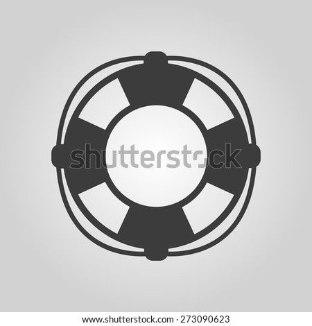 The lifebuoy icon. Lifebelt symbol. Flat Vector illustration - stock vector