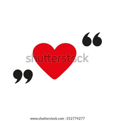 The love icon. Heart symbol. Flat Vector illustration - stock vector