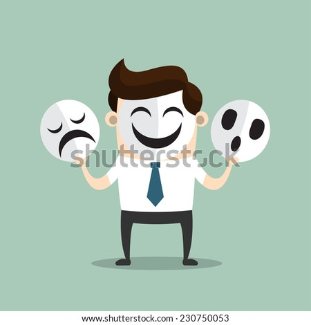 The Mask - stock vector