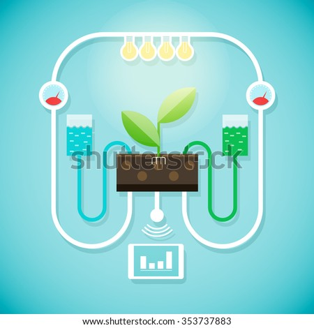 The modern cultivation of plants. Agriculture concept - stock vector