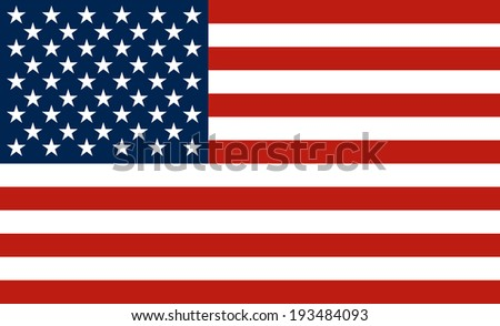 The national flag of the United States of America (The Stars and Stripes, Old Glory) - stock vector