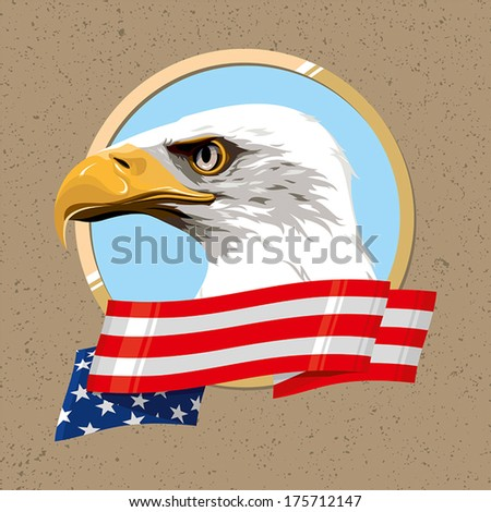 The national symbol of the United States of America - stock vector