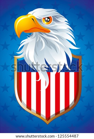 The national symbol of USA - stock vector