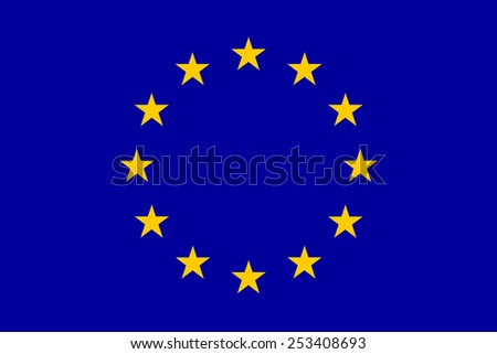 The official flag of the European Union in both sze and color. - stock vector